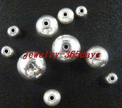 Tibetan Silver Smooth Solid Spacer Beads 4mm,6mm,8mm,10mm zn971