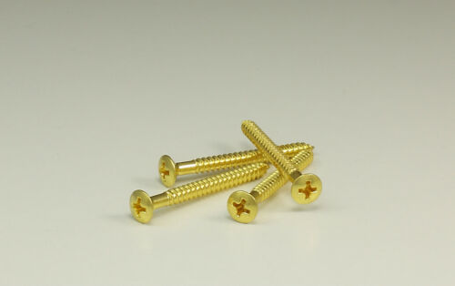 Halsschrauben Neckscrews 4 Stk gold