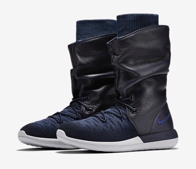 Nike W Roshe Two Hi Flyknit Mid & High Tops - College Navy/ College Navy  uk4