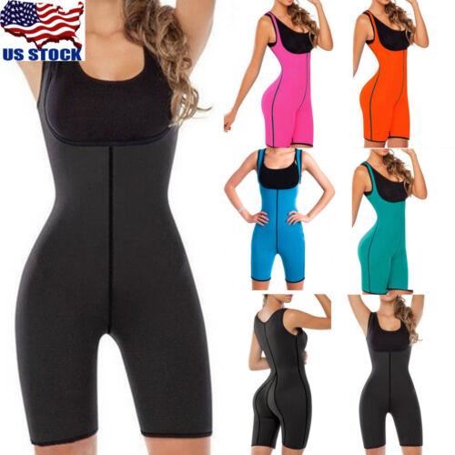 Women Neoprene Sauna Suit Full Body Shaper Ultra Sweat Weight Loss Yoga Bodysuit