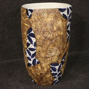 Vase-Chinese-Bowl-Eastern-Antique-Style-in-Ceramic-Painted-Characters-Blossom
