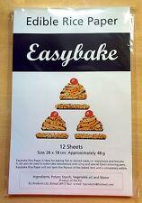 Easybake Bianco Commestibili Carta di riso - 12 fogli di grandi dimensioni 28cm x 18cm-CONFEZIONE SIGILLATA