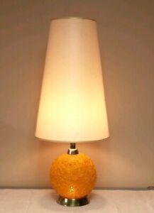 Table Lamp Orange Spun Plastic Retro
