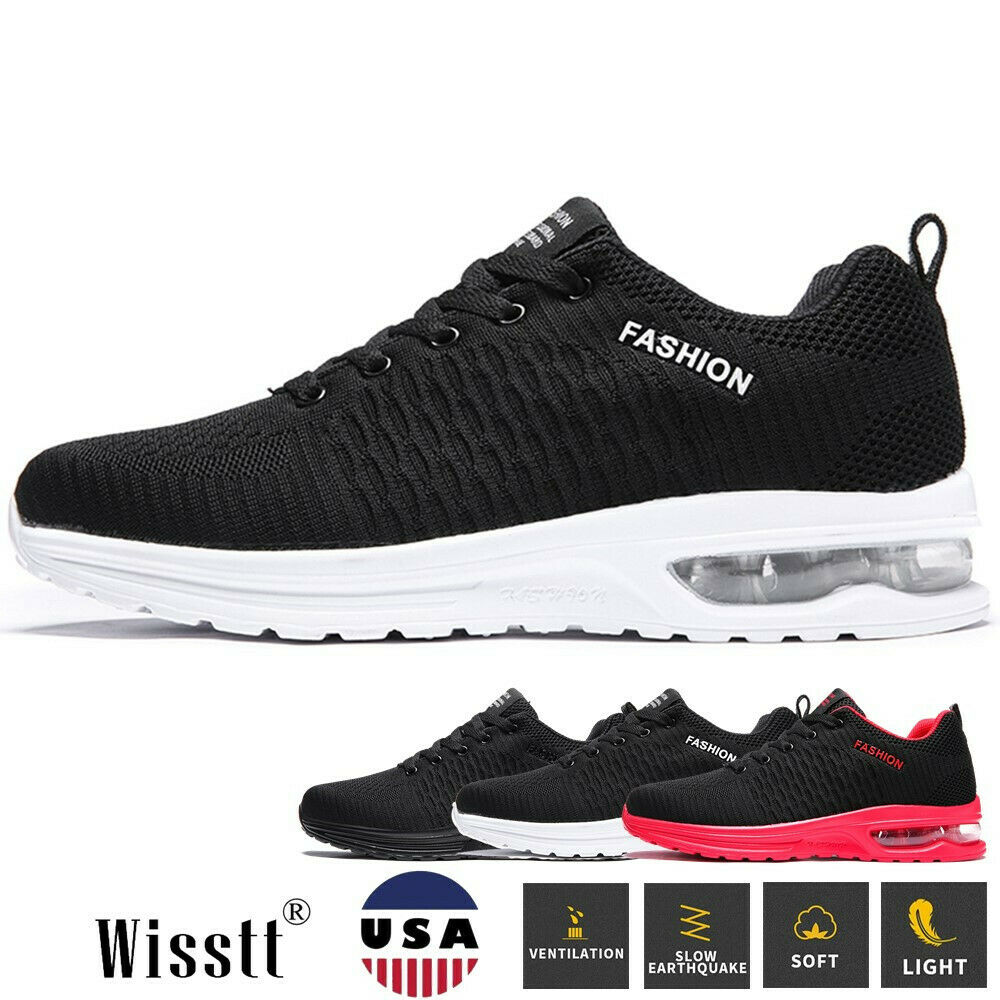 New Men's Athletic Sports Cushioned Sneakers Running Tennis Fitness Casual Shoes