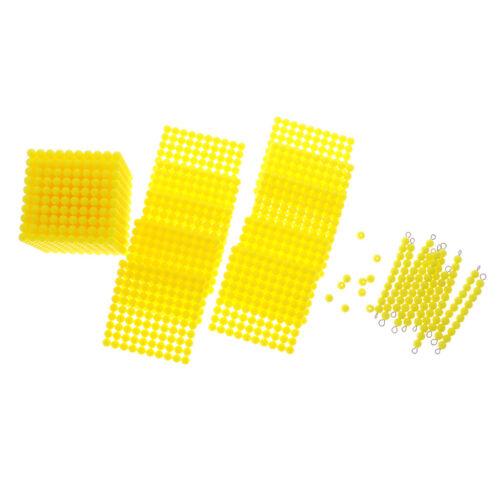1-1000 Montessori Decimal Beads Bar Cube Kids Learning Mathematics Materials