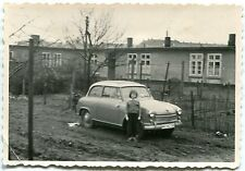 Orig. Foto Auto LLOYD /BORGWARD kleines Mädel Flachbauten HH-H 185 ? 50er Ja.