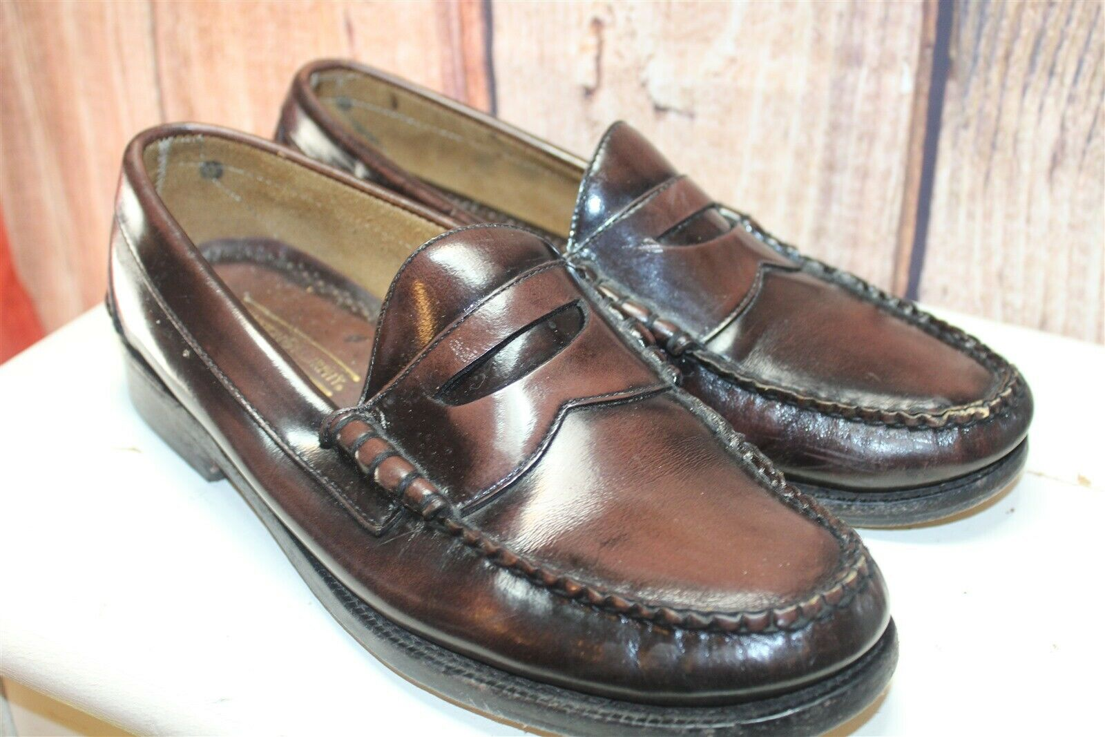 Johnston & Murphy Aristocraft Brown Leather Loafers 8.5 E Men's shoes
