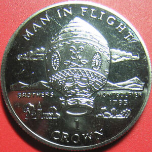 1995-ISLE-OF-MAN-1-CROWN-034-MONTGOLFIER-BROTHERS-034-BALLOON-1783-CU-NI-no-silver