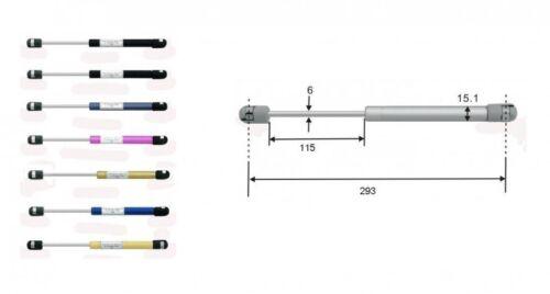 Gasdruckdämpfer Gasdruckfeder Gasfeder 293mm 80N schwarz 8157