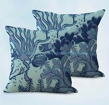 US SELLER, 2pcs seaweed fish ocean cushion cover decorative sofa pillow covers