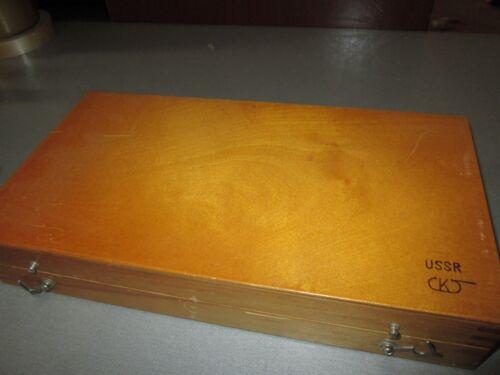 USSR Precision Metric Slip Gauge Block Set 0.5-100mm №1 Grade 1 83 pcs.