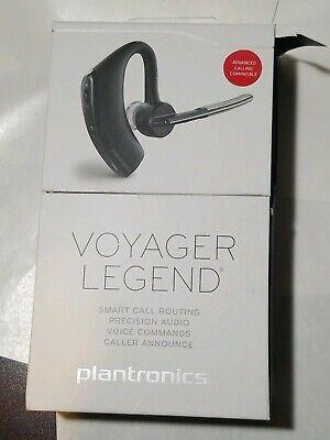 Plantronics Voyager Legend Bluetooth Headset Voice Command Black Charger Ebay