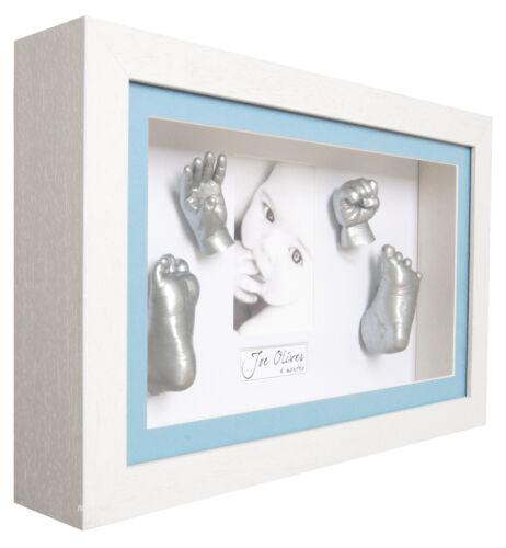 White Deep Box Frame Blue Boy/'s Memory Keepsakes New 3D Large Baby Casting Kit