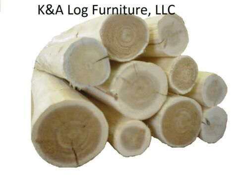Use your tenon cutter! kiln dried Hand Peeled Cedar Small Log Furniture Logs