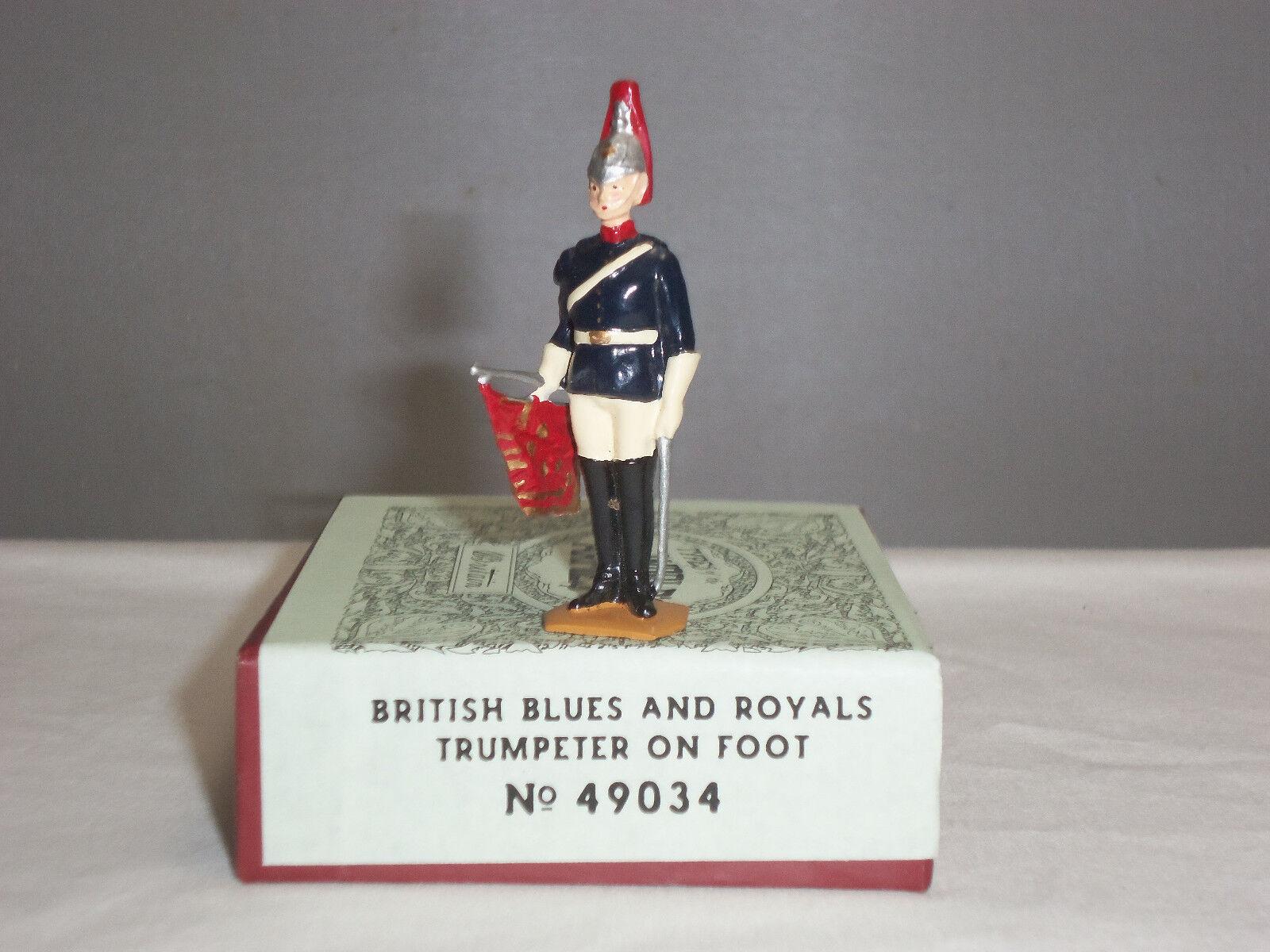BRITAINS 49034 BRITISH CEREMONIAL blueES + ROYALS TRUMPETER METAL TOY SOLDIER