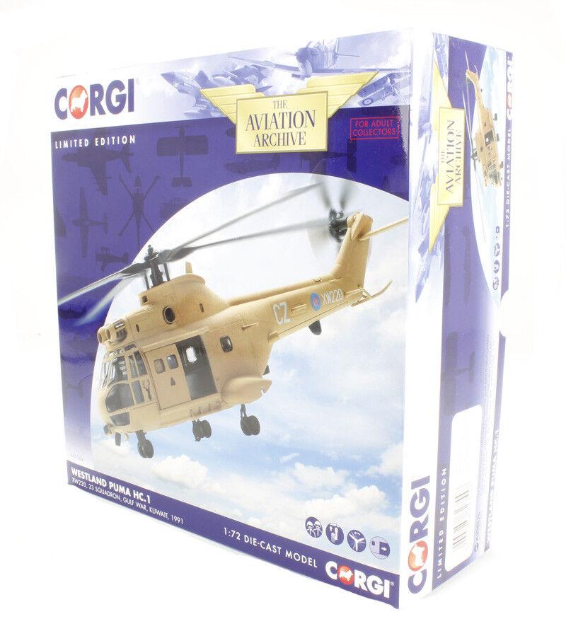 Corgi Puma Helicopter HC1 XW220 33 Sqd. Operation Granby Gulf War - AA27004 -