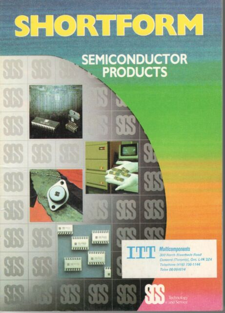 Vintage 1985/1986 Shortform Semiconductor Products Catalog From SGS-Italy