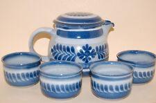 Teeservice 5 tlg. blaues Blumenmuster KMK
