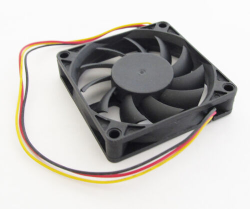 1pc Brushless DC Cooling Fan 80x80x10mm 8010 11 blades 12V 0.15A 3pin Connector