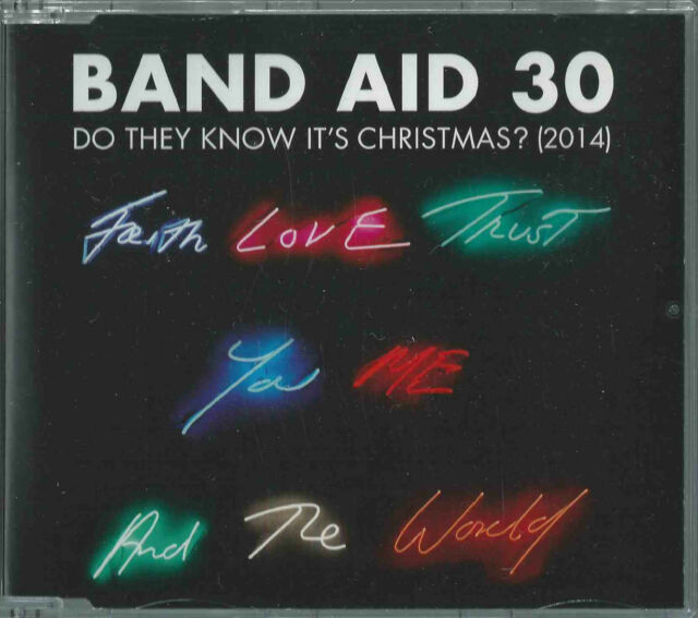 BAND AID 30 - DO THEY KNOW IT'S CHRISTMAS? 2014 GERMAN CD SINGLE ED SHEERAN BONO