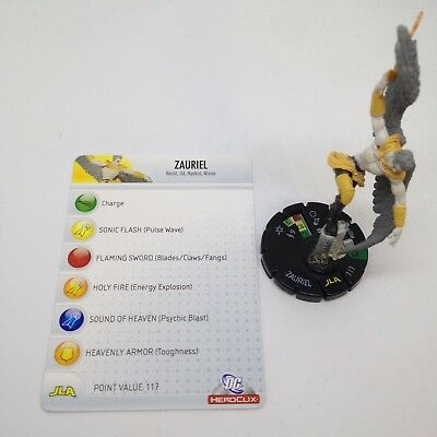 Heroclix Justice League set Zauriel #029 Uncommon figure w//card!