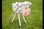 Petits métaux Ferme Animal Ornement Cochon Vache Mouton volute Statue PELOUSE FIGURE