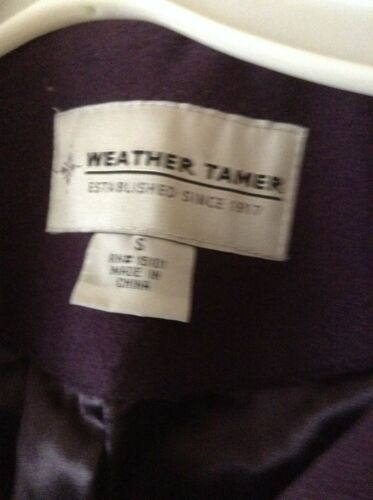 Tamer Coat Kvinders Small Plum Weather wx5CqPH