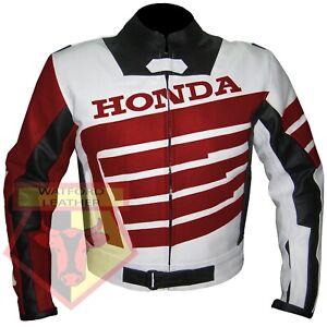 HONDA-9019-RED-MOTORBIKE-MOTORCYCLE-BIKERS-COWHIDE-LEATHER-ARMOURED-JACKET