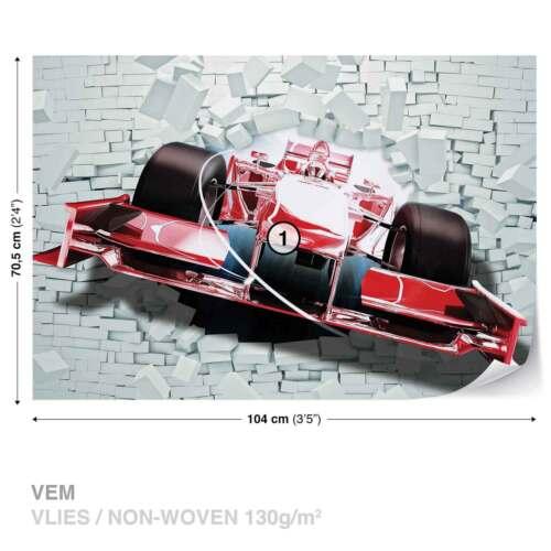 2774WS WALL MURAL PHOTO WALLPAPER XXL Formula 1 Racing Car Bricks
