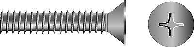 M8-1.25X60 Phillips Machine Stainless Steel Flat Head Screw 10//B Seachoice 01347