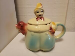VTG Shawnee Pottery Tom The Piper's Son Teapot Nursery Rhyme Pig Patented USA 44