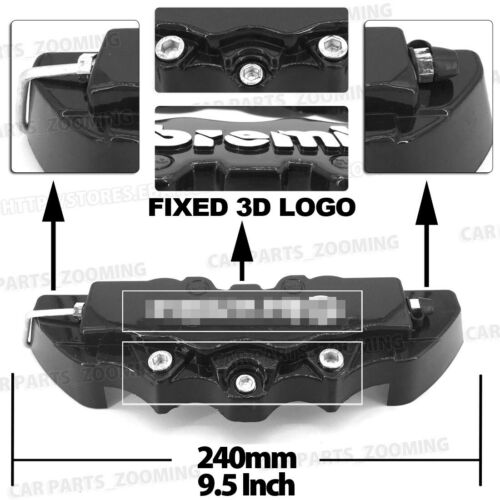 Disc Brake Caliper ABS Black 3D Style Front Rear Universal Car Truck Covers L+M