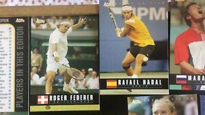 Tennis-ace-authentic-2005-98-cards-roger-federer-rafael-nadal-agassi-sharapova