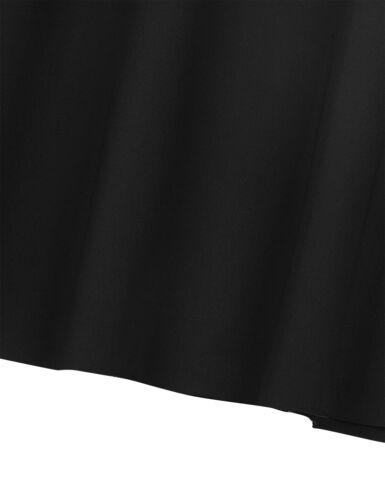 Girls A-line Skirt Kids School Uniform Pleated Skirts Party Casual Stretch Dress