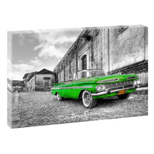 Chevrolet sw// grün Bild auf Leinwand Keilrahmen Poster XXL 120 cm*80 cm 015
