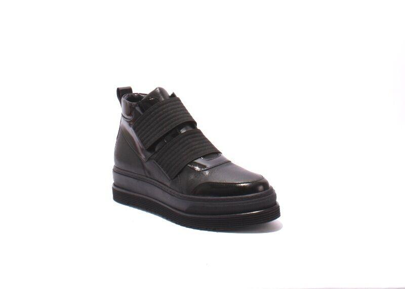 consegna gratuita Laura Bellariva 7532 nero Leather Leather Leather   Elastic Platform stivali 36   US 6  alta qualità genuina