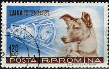 Romania Soviet Laika the Dog in Space stamp 1969