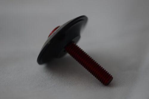 "U.Z BIKE XON CNC HEADSET TOP CAP /& Bolt 1-1//8/"" INCH- 31.8mm -Black"