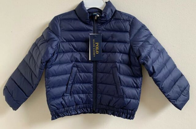 NWT Polo Ralph Lauren Toddler Girls Ruffled Quilted Down ...