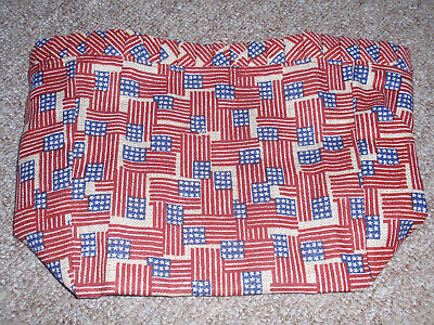 in Original Bag NEW Longaberger NOTEPAL Fabric Basket LINER in OLD GLORY FLAG