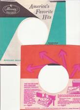 Mercury Records- 2 Original 1960's 45 Record Company Sleeves