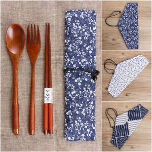 Japanese-Style-Cutlery-Set-Natural-Spoon-Fork-Chopsticks-Wooden-Cloth-Bag