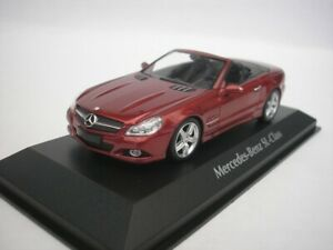 Mercedes-Benz-Sl-Class-2008-Rouge-Metallique-1-43-maxichamps-940037530-Neuf