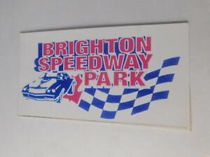 BRIGHTON-SPEEDWAY-PARK-STICKER-DECAL-ADVERTISING-CAR-RACE-ONTARIO-CANADA