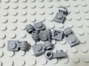 LEGO Lot of 12 Light Bluish Gray 1x1 Clip Light Plate Specialty Parts and Pieces