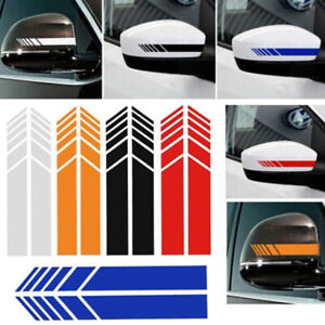 2pcs-Rear-View-Mirror-Stickers-Car-Styling-Car-Sticker-Mirror-Side-Decal-Stri-AU