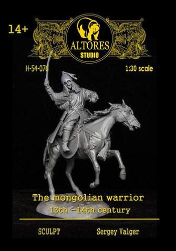 ALTORES STUDIO F54-076 Momgolian warrior 13 cent scala 54 mm