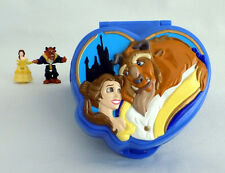 POLLY POCKET Tiny Collection Disney BEAUTY & THE BEAST Playset Figures - RARE!