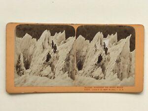 Grands-Mulets-Mont-Blanc-Chamonix-France-Photographie-Stereo-Vintage-Albumine