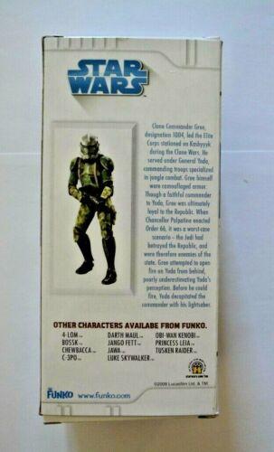 cm//dañado Funko Vinyl-personaje Bobble-head//Star wars//comandante gree 15 aprox